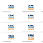 CSAC Logo Suite Listing Sixteen Logos Laid Out Over White Background