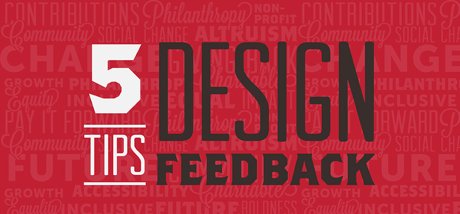 5 Tips For Design Feedback With A Graphic Designer With Red Background