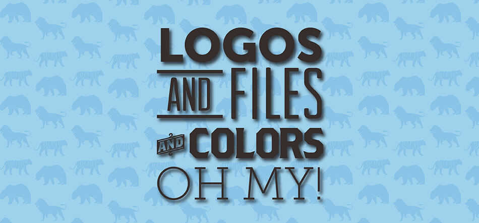 Logos And Files And Colors Oh My With Light Blue Background