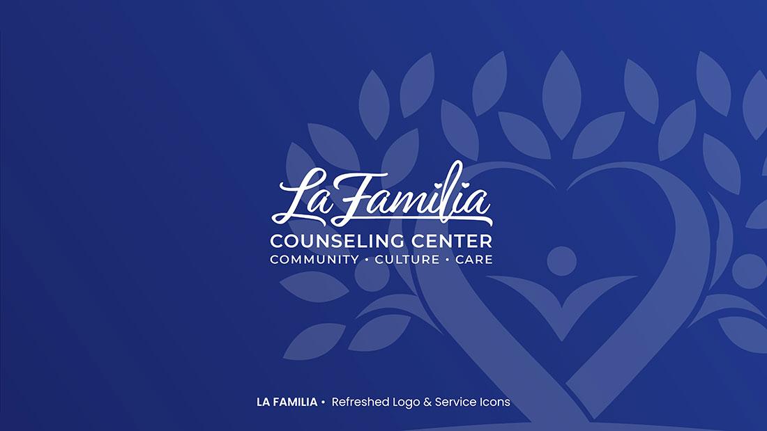 La Familia Counseling Center Blue Logo