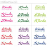 La Familia Different Colors With Five Refresh Logos On Top And Five Logos On Bottom