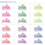 La Familia Logo Refresh In Different Colors With Five On The Top And Five On The Bottom